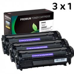 3X1 Toner HP Q2612A Negro